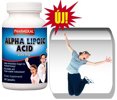 Alfa-liponsav 200 mg. 50 kapszula