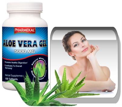 Aloe Vera gel 5000 mg. 100 kapszula