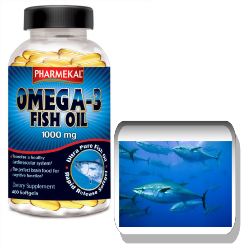 Omega-3 halolaj 1000 mg. 350 gélkapszula