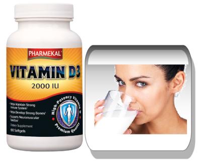 PHARMEKAL D3-vitamin 2000IU. 100 tabletta