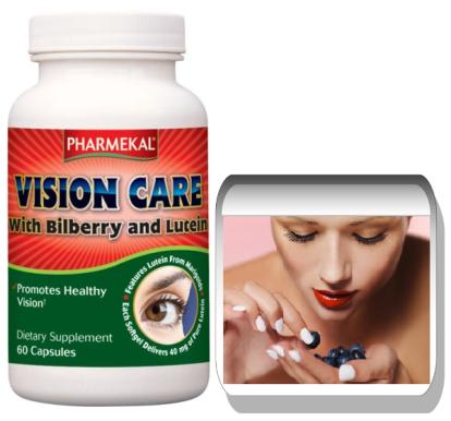 PHARMEKAL Vision CARE BILBERRY - Fekete áfonya 640 mg Plusz Lute