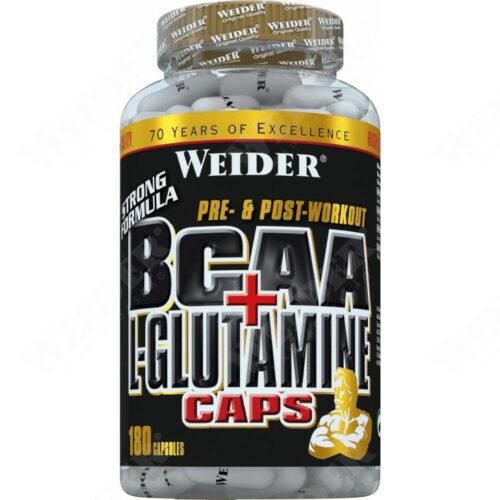 BCAA + L-Glutamine Caps 180 kapszula aminosav - TOZOSHOP.HU